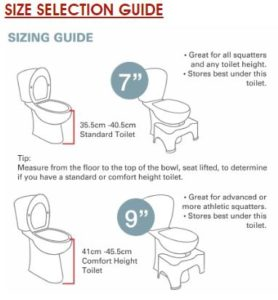 squatty potty sizing guide